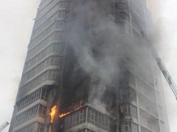 Огонь в здании