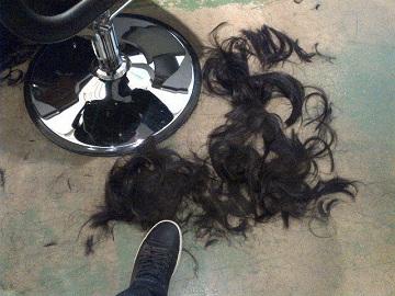 Обрезки волос