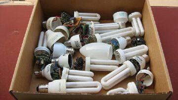 Лампочки - потенциально опасный вид отходов