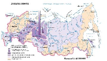 Карта объема добычи газа