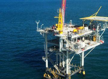 Добыча газа в открытом море