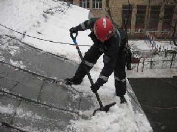Очистка крыши от снега цена в екатеринбурге