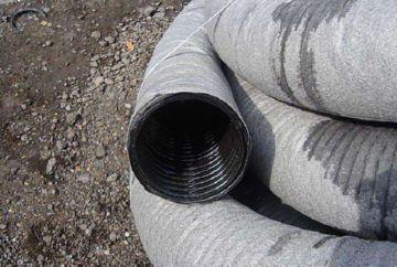 дренажные трубы в геоткани