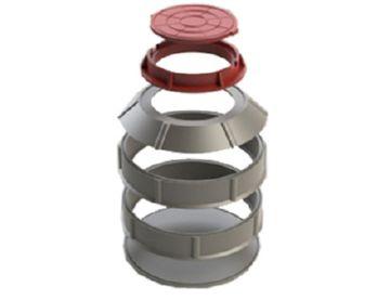 конструкция полимерпесчаного колодца
