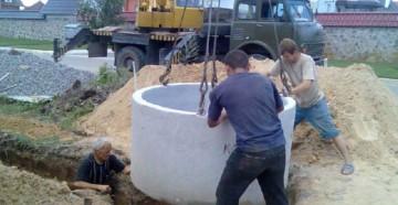 Схема ямы для грязной воды