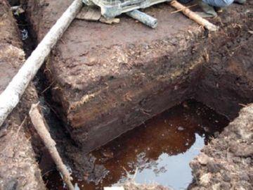 котлован для автономной канализации