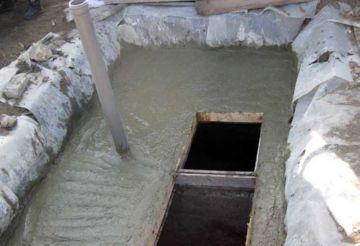 бетонные работы при обустройстве канализации
