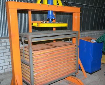 Пресс для изготовления плитки