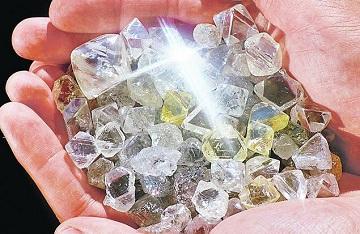 Алмазы без огранки