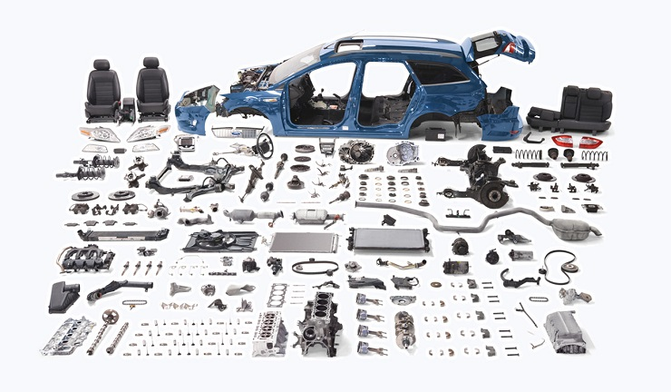 Узлы машины изготовлены из различных материалов