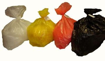 Цветные пакеты для медицинских отходов