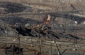 Открытый способ длобычи угля