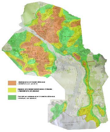 Загрязнение районов города