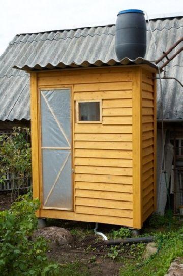 самодельный деревянный душ
