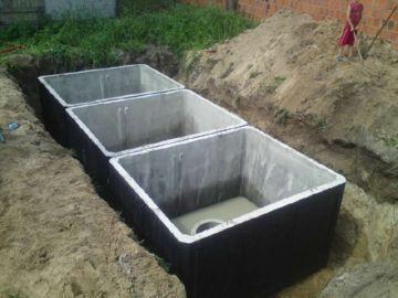 канализация из трех отсеков